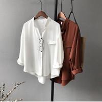 Baju Kemeja Wanita Atasan Wanita Model Korea T-shirt Terbaru Kancing D