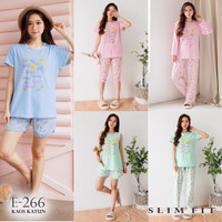 Baju Tidur Wanita Kaos Katun GREET E-266