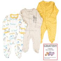 Baju Tidur Bayi Sleepsuit 3 in 1 Mamas Papas Premium Motif Zebra