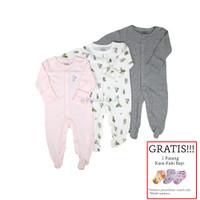 Baju Tidur Bayi Sleepsuit 3in 1 Mamas Papas Premium Motif Flower