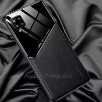 Casing Samsung Galaxy A12 SoftCase Generous Original Back Cover - Hitam