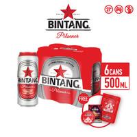 Bir Bintang Pilsener 500ml Can 6 Pcs + FREE Angpao Set