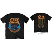 Baju Kaos Men's OZZY OSBOURNE Ori Back Print Black Sabbath Bat Circle - M