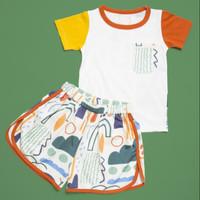 HIKING_ kaos dan celana_baju rumah anak