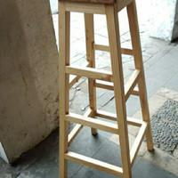 bangku kayu tinggi/kursi tinggi