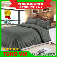 Bed Cover Set 200x200x30 Katun Jepang Emboss Bedcover Extra King Size