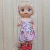 Dress Hello Kitty baju boneka baby alive