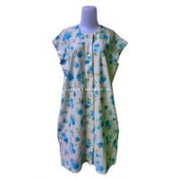 Baju Daster Pakaian Santai Ibu Ibu Wanita Hamil Menyusui Bahan Cotton - Blue Roses