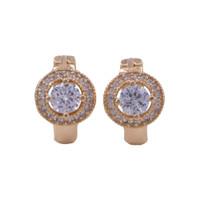 Xuping Anting Clip Mata Bulat Ring Gold 0161191017