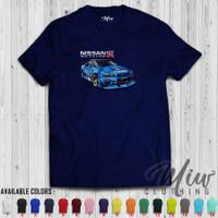 Kaos/Baju Distro/Tshirt Nissan Skyline GTR R34