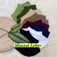 Manset leher / daleman jilbab / inner baju manset