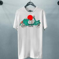 T-shirt Vespa Abstrak / Baju Kaos Distro Pria Wanita Cotton 30s