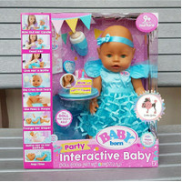 Baby born Interactive Baby Doll Party Theme - Green Eyes