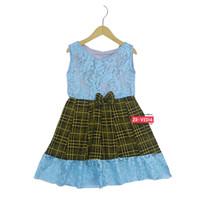 Dress Zulfa uk 4-5 Tahun / Dres Brokat Anak Perempuan Baju Brukat