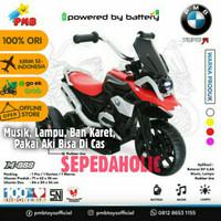 Motor Aki Anak PMB M 888 Mainan Roda Tiga Ban Karet Musik Lampu