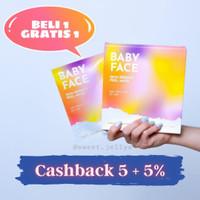 GRATIS 1 MASKER EXTRA - Baby Face Skin Reboot Peel Mask AHA BHA PHA