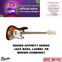 Squier Affinity Jazz Bass Laurel FB, Brown Sunburst ,BMJ