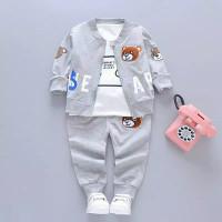 Anak Set Pakaian anak Laki-laki Baby baju Jas lengan panjang 0- 4 thn - Abu-abu, S