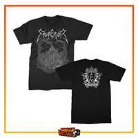Kaos Baju Band EMPEROR Back Print Progressive Black Metal Luciferian - M