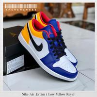 Sepatu Original Nike Air Jordan 1 Low Royal Blue Yellow BNIB