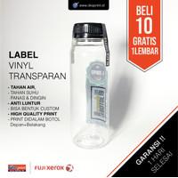 Cetak Stiker Label Vinyl Transparan 2 muka+CUT / Cetak Label Kemasan