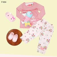 Setelan Baju Tidur Anak Perempuan Katun Motif H Kitty 2 s/d 18 Thn - Size 12