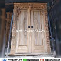 Pintu Gebyok Minimalis Modern Jepara, Kusen Genyok Simpel Kayu Jati
