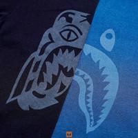 Kaos BAPE Shark Tiger Navy - L