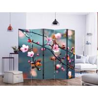 Sketsel Room Divider Pembatas Ruangan Partisi Lipat UV Print - Sakura