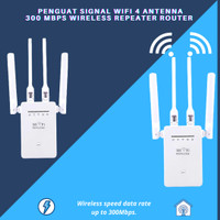 Penguat Sinyal Wifi 4 Antenna 300 mbps Wireless Repeater Router