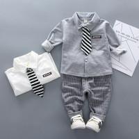 Setelan baju bayi Anak Laki umur 0 bulan - 4 tahun polo tshirt dasi