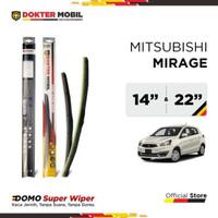 Domo Super Wiper Blade Hybrid Penyeka Kaca Mobil Mitsubishi Mirage