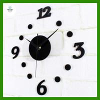 Jam Dinding Besar Diy Giant Wall Clock Creative Design 30 - 50 cm
