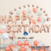 Paket Dekorasi Happy Birthday / Dekorasi Ulang Tahun / Paket Rose Gold