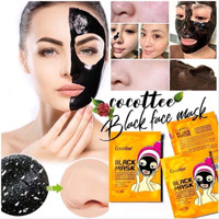 [BPOM] COCOTTEE Black Mud Face Mask / Brightening Peel Off Mask 1ea