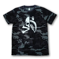 Kaos a bathing ape bape x mastermind skull shark bahan premium