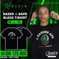 Razer BAPE A Bathing Ape Black T-Shirt