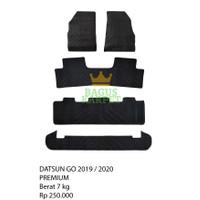 Karpet karet lantai mobil Datsun Go 2019/2020 - Premium
