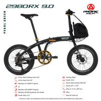 Sepeda Lipat Murah Pacific 2980 RX 9.0 20 Inch Free Helm & Tas