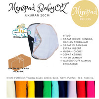 Menspad POLOS Minipad baby oz 20cm pembalut kain menstual pad