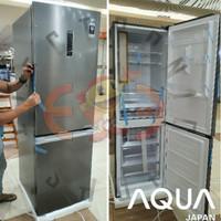 Aqua Aqr343Rbm Kulkas 2 Door Bottom Freezer Inverter - Aqr 343 Rbm