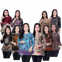 Baju Batik Atasan Wanita Blouse Lengan Panjang Batik 10 motif