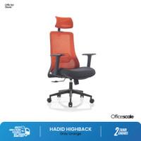 Kursi Kantor, kursi kerja Hadid Grey Orange