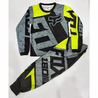 Stelan Panjang Baju Jersey Sepeda/ motorcross Anak 4 - 13 Tahun