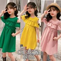 BAJUKIDDIE CIA SABRINA DRESS ANAK IMPOR KOREA / BAJU DAILY - green, 110