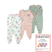 Baju Tidur Bayi Sleepsuit 3 in 1 Mamas Papas Premium Motif Tree