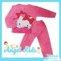 Setelan Panjang Baju / Kaos Anak Perempuan CUTE KITTY 1 - 10 Tahun