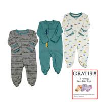 Baju Tidur Bayi Sleepsuit 3 in 1 Mamas Papas Premium Motif Car