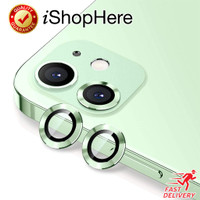 Aluminium Protector Anti Gores Pelindung Kamera iPhone 12 Mini Pro Max - 12 - 12 Mini, Green