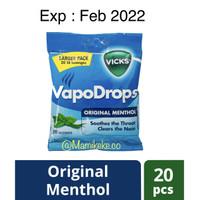 [Mamikeke.co] Vicks VapoDrops Blue 20 lozenges extra strong - BluePeppermint